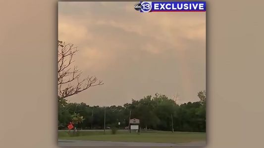 Rainbow appears over Texas sky before church service honoring Santa Fe shooting victims