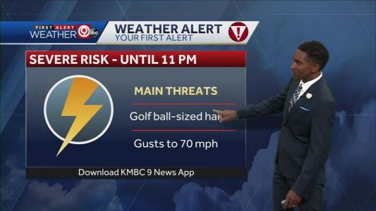 Strong winds, hail biggest risks for Sunday night severe storms