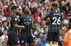 Sterling shines as City beats Arsenal in Emery's 1st game