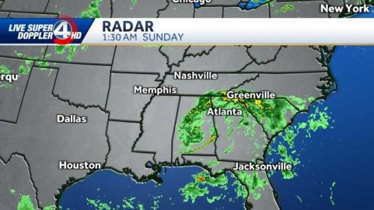 Tropical system once Claudette brings soggy conditions, flood threat to Upstate for Father's Day