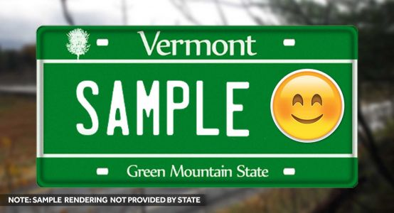 Vermont bill would allow emojis on state-issued license plates