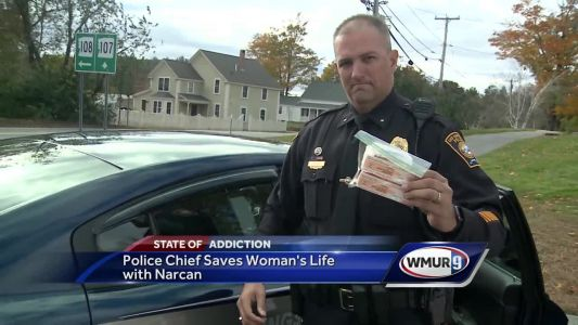 Local police chief saves woman's life with Narcan