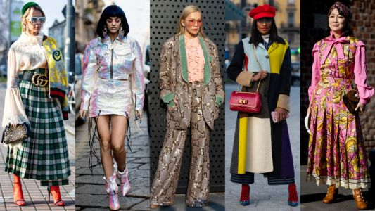 Showgoers Wore Maximalist Looks on Day 1 of Milan Fashion Week