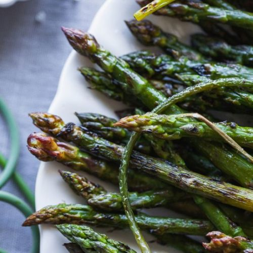 Lemon Garlic Grilled Asparagus