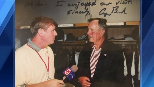 2 Minute Drill: Remembering President Bush's visits to Boston