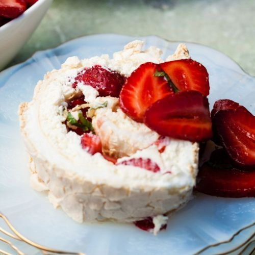 Summer Strawberry Roulade