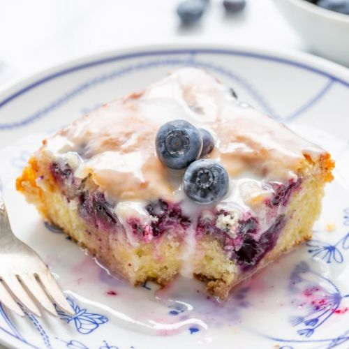 Zucchini Cake with Blueberries