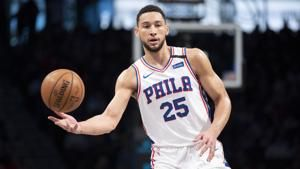 76ers' Simmons recovered from back injury for restart