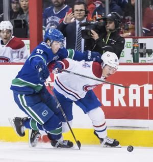 Drouin's power-play goal sends Canadiens past Canucks 3-2