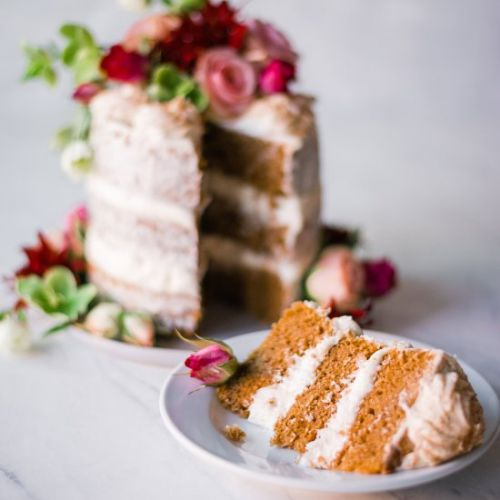 Vegan Brown Sugar Chai Latte Cake