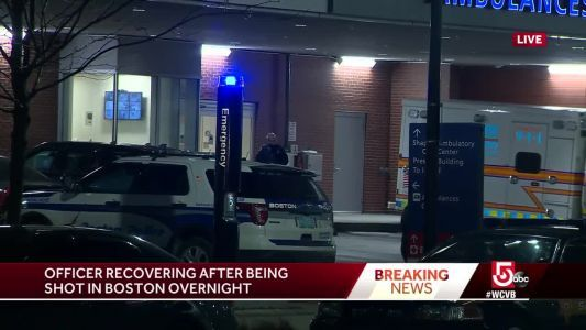 Boston police officer shot in Roxbury overnight