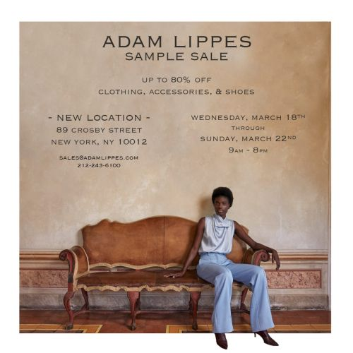 Adam Lippes Sample Sale, 3/18 - 3/22, NYC