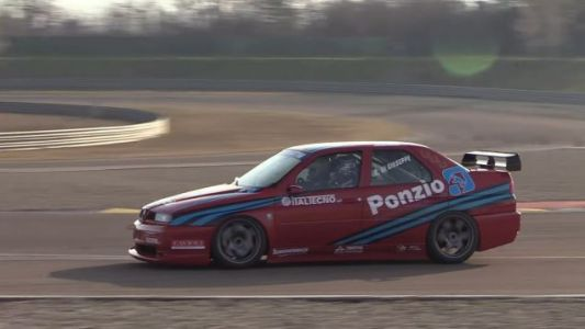 Try Not To Lose All Sense Of Reality Riding Onboard This Alfa Touring Car