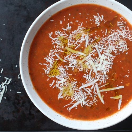 Tomato Lentil Soup with Caraway