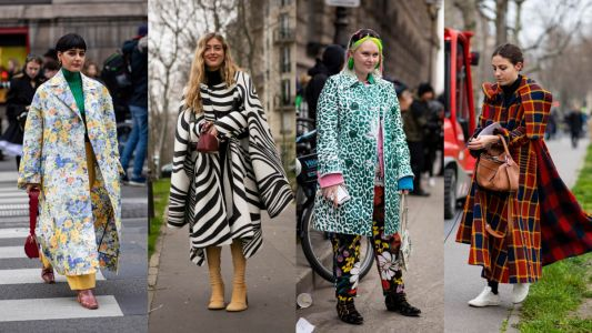Patterned Statement Coats Were a Street-Style Hit on Day 4 of Paris Fashion Week