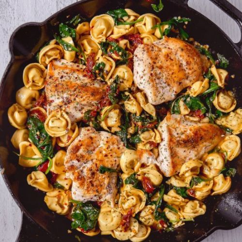 Tuscan Chicken with Tortellini