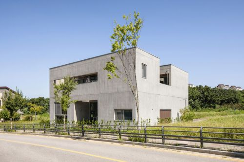 Concrete Haven in South Korea Features Ingenious Way to Connect Spaces