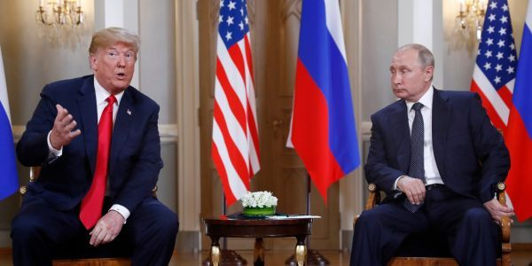 Trump and Putin met for 2 hours one-on-one, had lunch, and hosted a press conference - here are the first photos to surface
