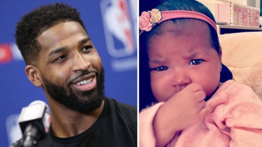 Tristan Thompson Shares Precious First Pic With Both of His Kids, as Baby True Meets Her Brother Prince