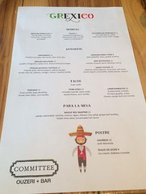 Grexico at Committee: Fusion Cuisine At Its Best