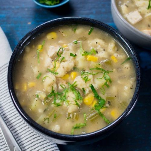 Chicken Corn Chowder with Rivels