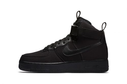 """Nike Gives the Air Force 1 High Canvas the """"Triple Black"""" Treatment"""