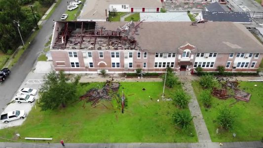 VIDEO: School roof torn apart in Florida as storm Nestor brings tornadoes