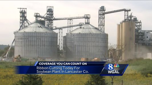 Controversial soybean processing plant opens today
