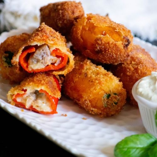 Sausage and Mini Pepper Poppers