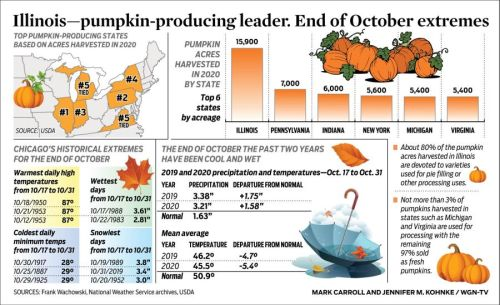 Illinois-pumpkin-producing leader. End of October extremes