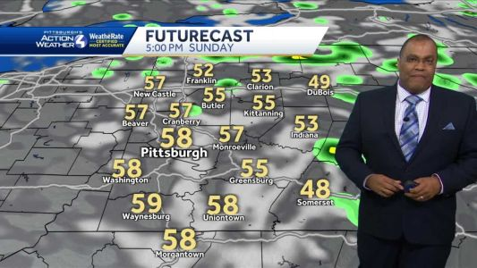 Colder with showers for Sunday