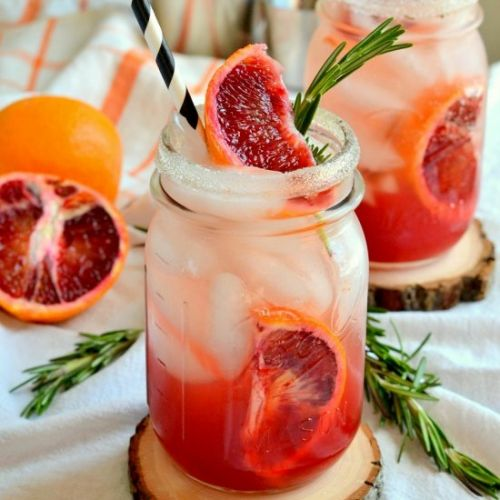 Smoky Blood Orange Margaritas