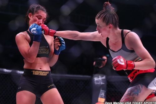Amber Leibrock was ready to 'run through fire' if necessary to get to Bellator 215 fight