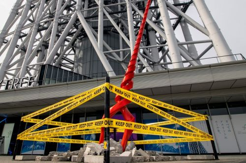 Giant Spear of Longinus From 'Evangelion' Lands at Tokyo Skytree