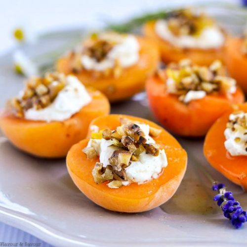 Apricots with Goat Cheese & Honey