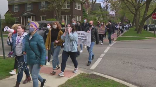 Northwestern students protest recent promotion of athletic director