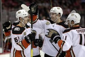 New-look Ducks, led by John Gibson in goal, beat Devils 3-2