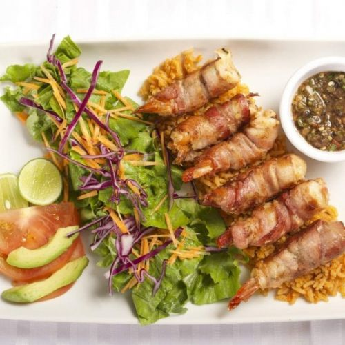 Bacon Wrapped Shrimp with Cheese