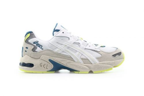 "ASICS GEL-KAYANO 5 OG ""White"" Gets Dipped in Fluorescent Yellow"