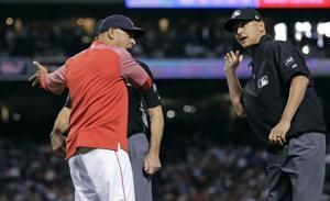 Benintendi, Cora, Woodward ejected in Rangers-Red Sox game