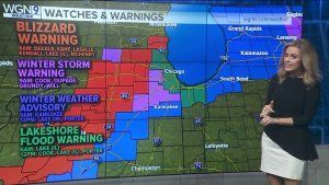 Blizzard conditions of heavy snow, winds continue into Monday morning commute
