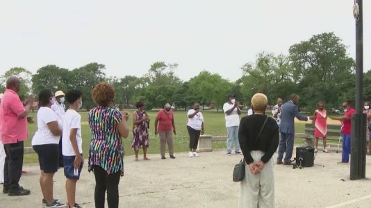 Father's Day prayer for health, peace, held on South Side