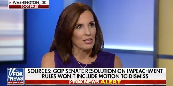 The Republican senator who called a CNN reporter a 'liberal hack' for asking an impeachment question refuses to answer the same question from a Fox News host