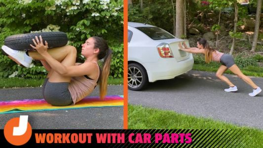 How To Get Super Jacked. Using Your Jack And Other Car Parts