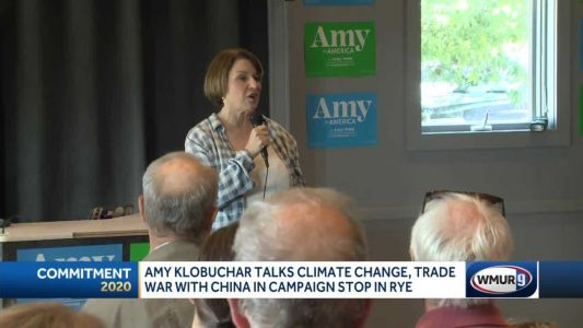 Klobuchar focuses on climate change in Rye campaign stop