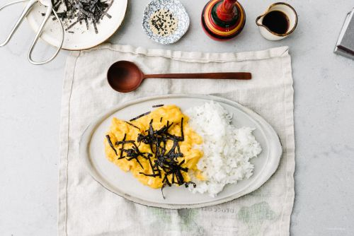 Soft Scrambled Japanese Tamago Rice Bowl Recipe