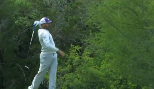 Sergio Garcia lost his cool after a bad shot and threw his driver into the woods