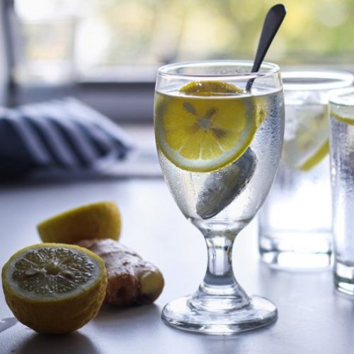Lemon and Ginger Infused Water