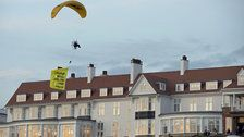 Up, Up And No Way! Greenpeace Paragliding Protester Buzzes Trump At Turnberry