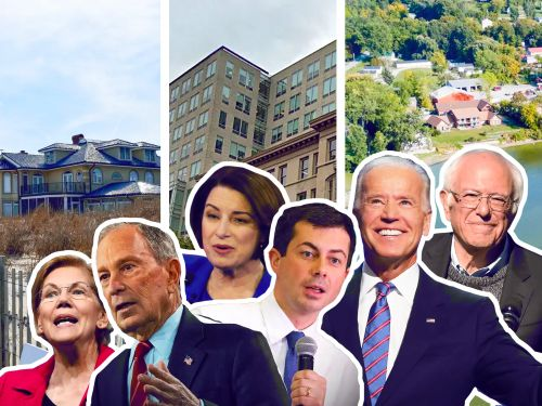 A look at the real estate of the 6 leading Democratic presidential candidates, from Mike Bloomberg's 11 luxury properties to Pete Buttigieg's modest $125,000 Indiana house
